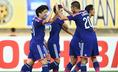 開始早々の3分、日本は代表初スタメンの武藤のゴールで先制。しかし、その後は追加点を挙げられず、試合は膠着状態に。写真:小倉直樹(サッカーダイジェスト写真部)