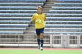 【U-22日本代表 1-2 京都】先発出場したGK櫛引(清水)。写真:小倉直樹(サッカーダイジェスト写真部)