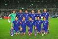 カンボジア戦の先発メンバー。予想通り、本田、香川、岡崎らが顔を並べた。写真:滝川敏之(サッカーダイジェスト写真部)