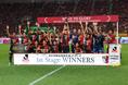 【鹿島2-0福岡】鹿島はベテランと若手が上手く融合し、名門復活を印象付ける優勝を勝ち取った。写真:徳原隆元