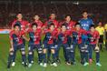 【鹿島2-0福岡】鹿島アントラーズのスターティングイレブン。写真:茂木あきら(サッカーダイジェスト写真部)