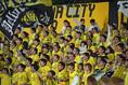 【湘南 0-0 柏】柏サポーター。写真:徳原隆元