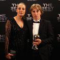 ルカ・モドリッチ(R・マドリー)と妻バニャ・ボスニッチ。(C)Getty Images