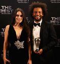 マルセロ(R・マドリー)と妻クラリス・アウベス。(C)Getty Images