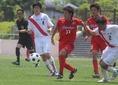 大城佑斗(MF/3年) 先輩の宮市剛(湘南)が今年のキーマンとして名を挙げた。豊富な運動量と高い守備力が魅力だが、得点能力も兼備。(C) Takahito ANDO