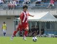 MF 吉田 廉(3年) 昨年からレギュラーに定着したボランチ。攻撃につながるパスでゲームを組み立て、自身も積極的にゴールを狙う。 (C) Takeshi KOBAYASHI