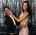 ダニエウ・アウベス(ブラジル代表)と妻ジョアナ・サンツ。写真:Getty Images