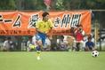 恩田拓実(3年/DF) 球際の強さと屈強なフィジカルが武器の守備の要。準決勝では身体を張った守備でチームの勝利に貢献。(C) SOCCER DIGEST