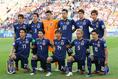 日本代表のスターティングイレブン。初戦からメンバーの変更は無し。写真:JMPA代表撮影(滝川敏之)