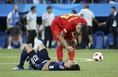 2018年ロシアW杯・決勝トーナメント1回戦・ベルギー対日本。 (C) Getty Images