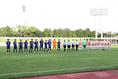 草薙陸上競技場で行われたSBSカップ、日本対パラグアイ。写真:茂木あきら(サッカーダイジェスト写真部)