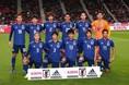 日本のスターティングイレブン。ベネズエラ戦から11人全員を入れ替えた。写真:山崎賢人(サッカーダイジェスト写真部)