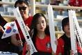 韓国代表を応援する女性サポーター。(C)AFC