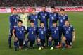 日本のスターティングメンバー。FWには初招集の鈴木武蔵を抜擢された。写真:山崎賢人(サッカーダイジェスト写真部)