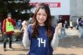 みさきさん(好きな選手:柿谷曜一朗)「今日も頑張ってください!」 写真:茂木あきら(サッカーダイジェスト写真部)
