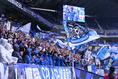 【G大阪0-1浦和】声援を送るG大阪サポーター。写真:山崎 賢人(サッカーダイジェスト写真部)