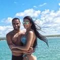 トッテナムFWルーカスと妻のラリッサさん(写真はインスタグラムより)。