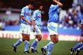 1996年5月4日のサンフレッチェ広島戦でJリーグデビューを飾った。 (C) SOCCER DIGEST