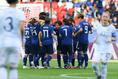 【なでしこジャパン PHOTO】日本0-0アルゼンチン|試合前に円陣を組み、気合十分!!|写真:早草紀子