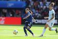 【なでしこジャパン PHOTO】日本0-0アルゼンチン|パスを出す長谷川唯(日テレ・ベレーザ)|写真:早草紀子