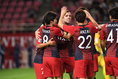 【ACL 鹿島 1-0 広島 PHOTO】日本チーム同士の対戦は24分に鹿島のセルジーニョ(中)がゴール。これが決勝点となりホームチームが先勝した。写真:徳原隆元