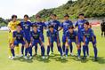 日体大柏のスターティングイレブン。写真:茂木あきら(サッカーダイジェスト写真部)