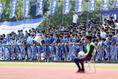 日体大柏の応援団。写真:茂木あきら(サッカーダイジェスト写真部)