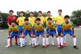 帝京のスターティングイレブン。写真:茂木あきら(サッカーダイジェスト写真部)