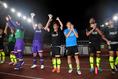 【磐田 1-3 浦和 PHOTO】前半の一気の攻めで完勝を飾った浦和。写真:徳原隆元