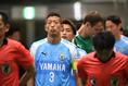 【磐田 1-3 浦和 PHOTO】ピッチへの入場を待つ磐田の選手たち。写真:徳原隆元