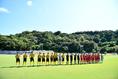 【インターハイ2019 PHOTO】東海大相模2-3尚志|南城市陸上競技場での開催となった|写真:金子拓弥(サッカーダイジェスト写真部)
