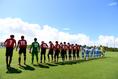 【インターハイ2019PHOTO】大分0(7PK8)0徳島市立|金武町フットボールセンターにて試合が行われた|写真:金子拓弥(サッカーダイジェスト写真部)