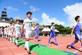 【インターハイ2019準決勝】富山第一1-0尚志|選手入場|写真:金子拓弥(サッカーダイジェスト写真部)