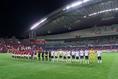 【浦和 0-2 Honda FC】整列する両チームの選手たち。写真:山崎 賢人(サッカーダイジェスト写真部)