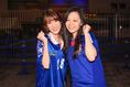 ゆうなさん(好きな選手:城彰司)「小学生の時から愛してます!」/はるかさん(好きな選手:内田篤人)「応援してます!」写真:金子拓弥(サッカーダイジェスト写真部)