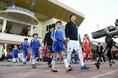 入場する選手たち。写真:金子拓弥(サッカーダイジェスト写真部)