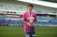 【高円宮杯CS】C大阪U-18 対 柏U-18|MVPを獲得したC大阪U-18の高田和弥。(C) SOCCER DIGEST