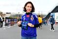 ゆり子さん(好きな選手:小野瀬康介)「応援してます!!」|写真:金子拓弥(サッカーダイジェスト写真部)