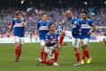 マルコス・ジュニオールとのゴールパフォーマンスでスタジアムを沸かせる|写真:山崎賢人(サッカーダイジェスト写真部)