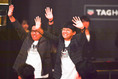 【2019JリーグアウォーズPHOTO】お笑いコンビ、ミキの昴生と亜生|写真:金子拓弥(サッカーダイジェスト写真部)