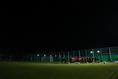 練習場は真っ暗。メディア公開は冒頭15分のみ、練習スタート!|写真:茂木あきら(サッカーダイジェスト写真部)
