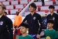 デビュー戦となったE1選手権、香港戦|写真:茂木あきら(サッカーダイジェスト写真部)