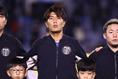 国歌斉唱|写真:茂木あきら(サッカーダイジェスト写真部)