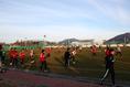 釜山アイパークの練習場でトレーニング|写真:茂木あきら(サッカーダイジェスト写真部)