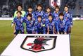 日本のスターティングイレブン|写真:茂木あきら(サッカーダイジェスト写真部)
