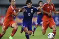 2014年10月9日U-19選手権ミャンマーGS第1戦日本代表対中国代表|写真:サッカーダイジェスト