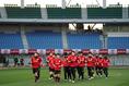 【代表PHOTO】ランニングをする選手たち。写真:山崎賢人(サッカーダイジェスト写真部)