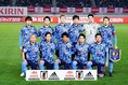 日本のスターティングイレブン。安部、前田ら欧州組4名が先発入りを果たした。写真:山崎賢人(サッカーダイジェスト写真部)