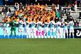 【選手権PHOTO】北海0-1高川学園|応援団と気合を入れる高川学園|写真:金子拓弥(サッカーダイジェスト写真部)