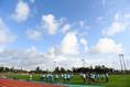 【沖縄キャンプPHOTO】Vファーレン長崎|少し強い風が吹く中、練習を行った|写真:金子拓弥(サッカーダイジェスト写真部)